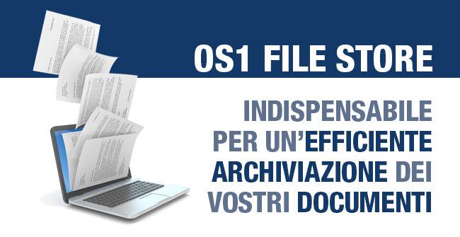 OS1 File Store: indispensabile per un'efficiente archiviazione dei vostri documenti